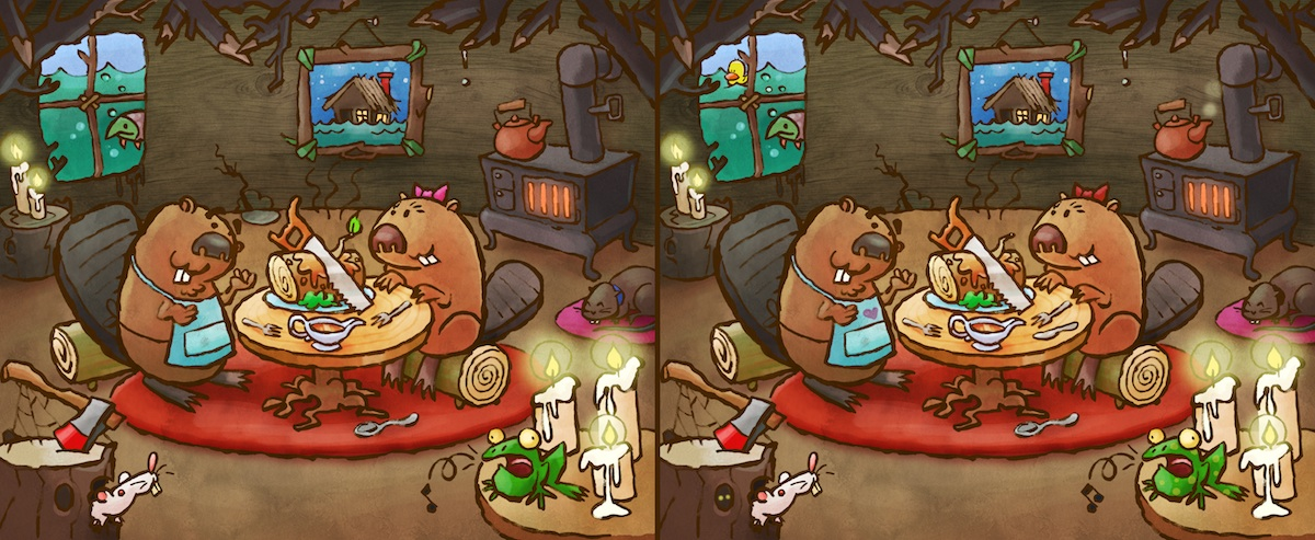 Beaver Spot the Difference by WonderDookie
