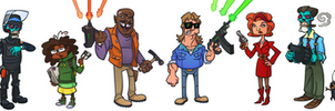 They Live Animated Series Line-Up