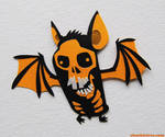 Skull Bat Magnet