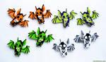 Flock of Skull Bat Magnets: For Sale
