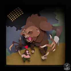 Rancor and His Keeper: Cut-Out by WonderDookie