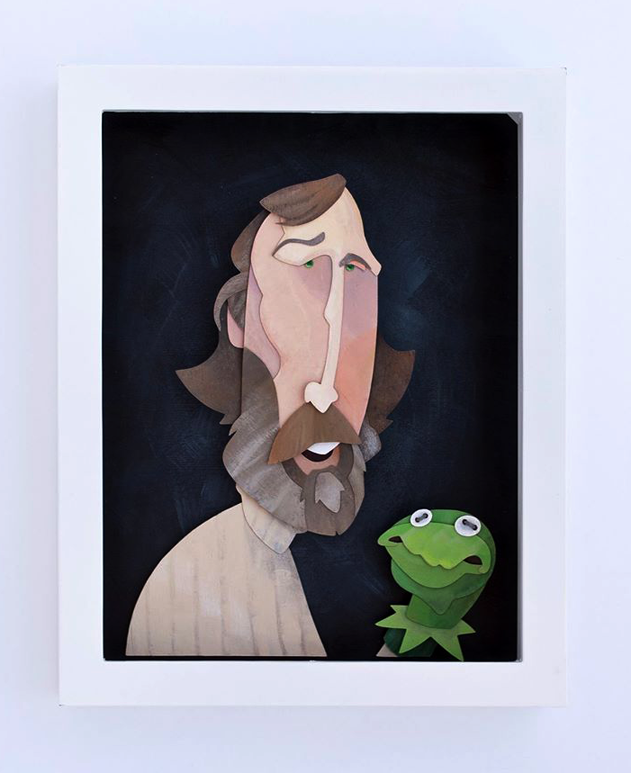 Jim Henson Portrait Painted by WonderDookie