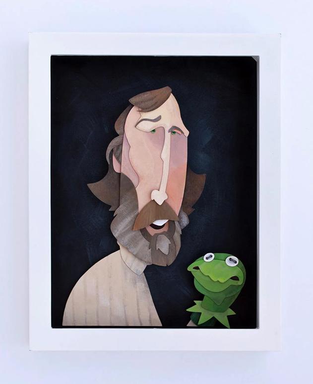 Jim Henson Portrait Painted