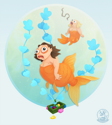 Goldfish Mermaid by WonderDookie