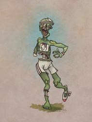 Zombie Marathon Runner by WonderDookie