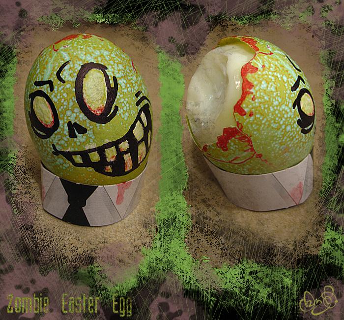 Zombie Easter Egg by WonderDookie