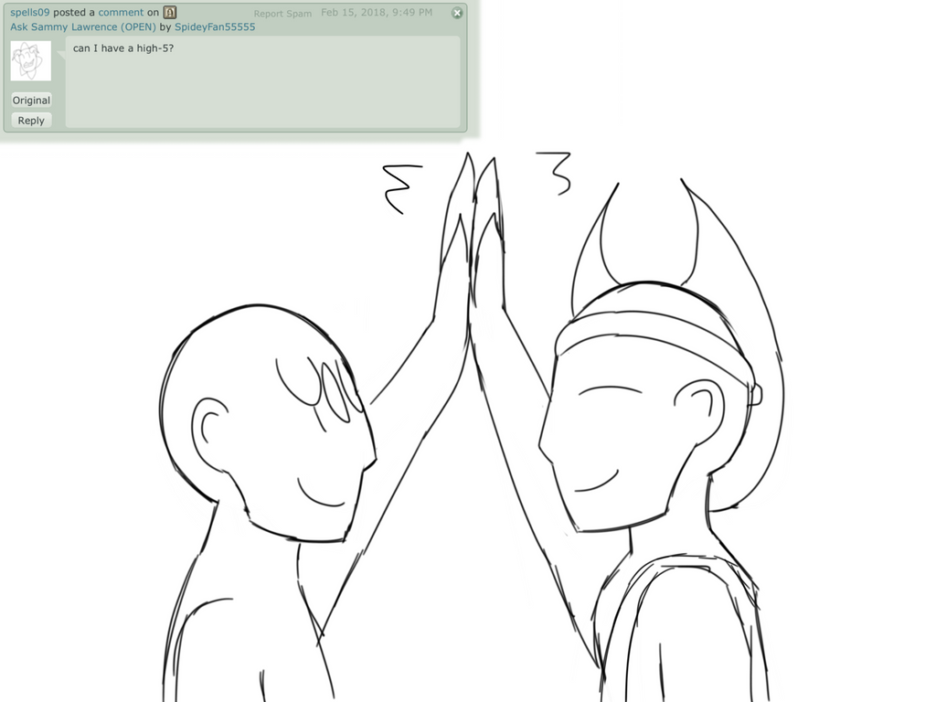 Ask Sammy 18 - High five by SpideyFan55555
