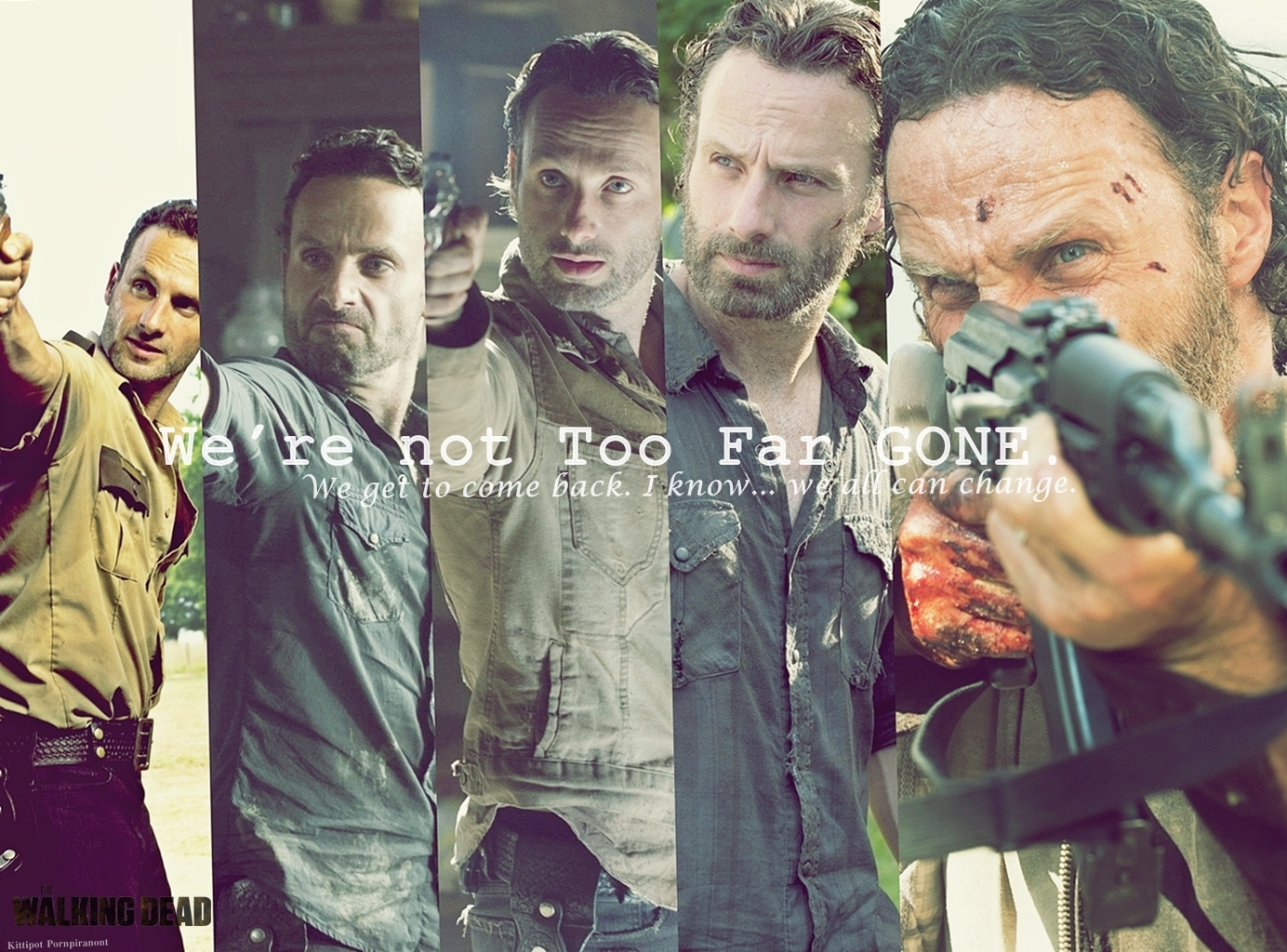 The Walking Dead Wallpaper Fanmade Rick Grimes By Pluemkp On