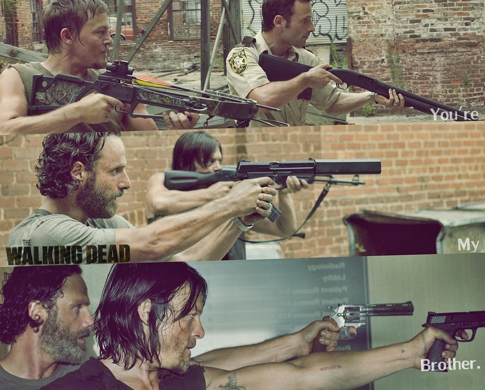 The Walking Dead WALLPAPER FANMADE Rick And Daryl By PluemKP