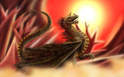 Golden Dragon - Crystal Background