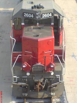 Red Locomotive Close-up