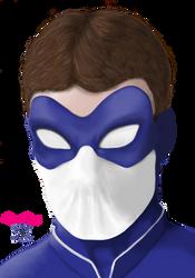 White Peregrine masked collab by ChristopherRobinArtz