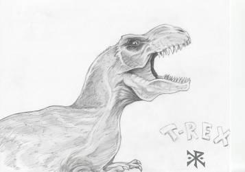 T-rex quick sketch by ChristopherRobinArtz