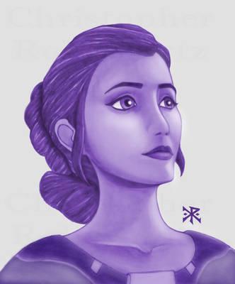 Princess Leia in Monochromatic Softbrush by ChristopherRobinArtz