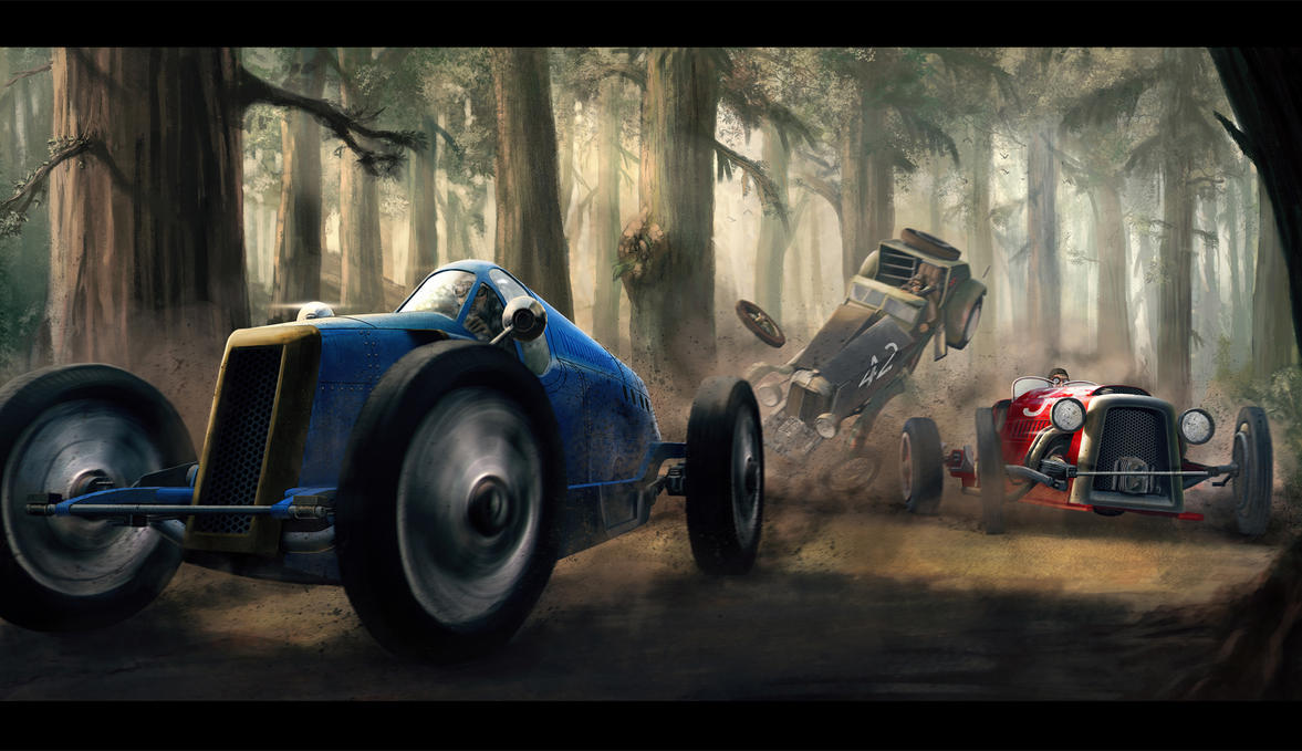 Classic Car Race by AlexJJessup on DeviantArt