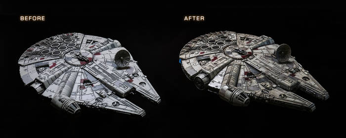 Falcon Before and After
