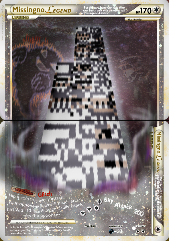 Missingno LEGEND fake card by Dwitfry666