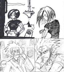 Battle Angel Sketches by dogtopus