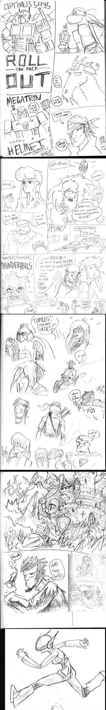Drunken Sketchbook 2 by dogtopus