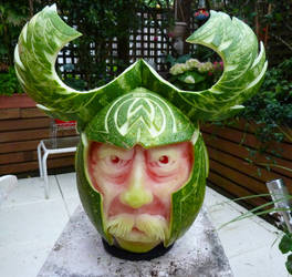 Viking Watermelon Carving by Jam-Butty