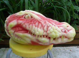 Alligator Watermelon Carving