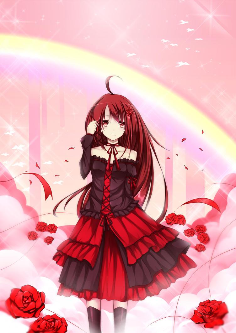 Scarlet Rose Dream by winnietehpoohie