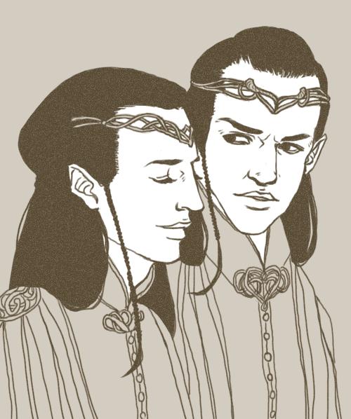 Elrond talks. Lindir listens. by girabbit