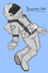 Pixel Astronaut (based off of sirenlovesart) by brusseleos