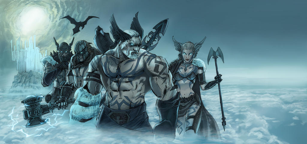 Norse Gods, wall painting by AlanStain on DeviantArt