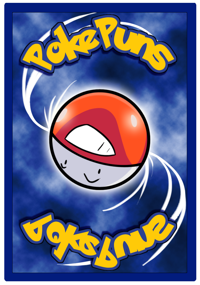 PokePuns: Card Back Design Rough Draft by rawrkittens