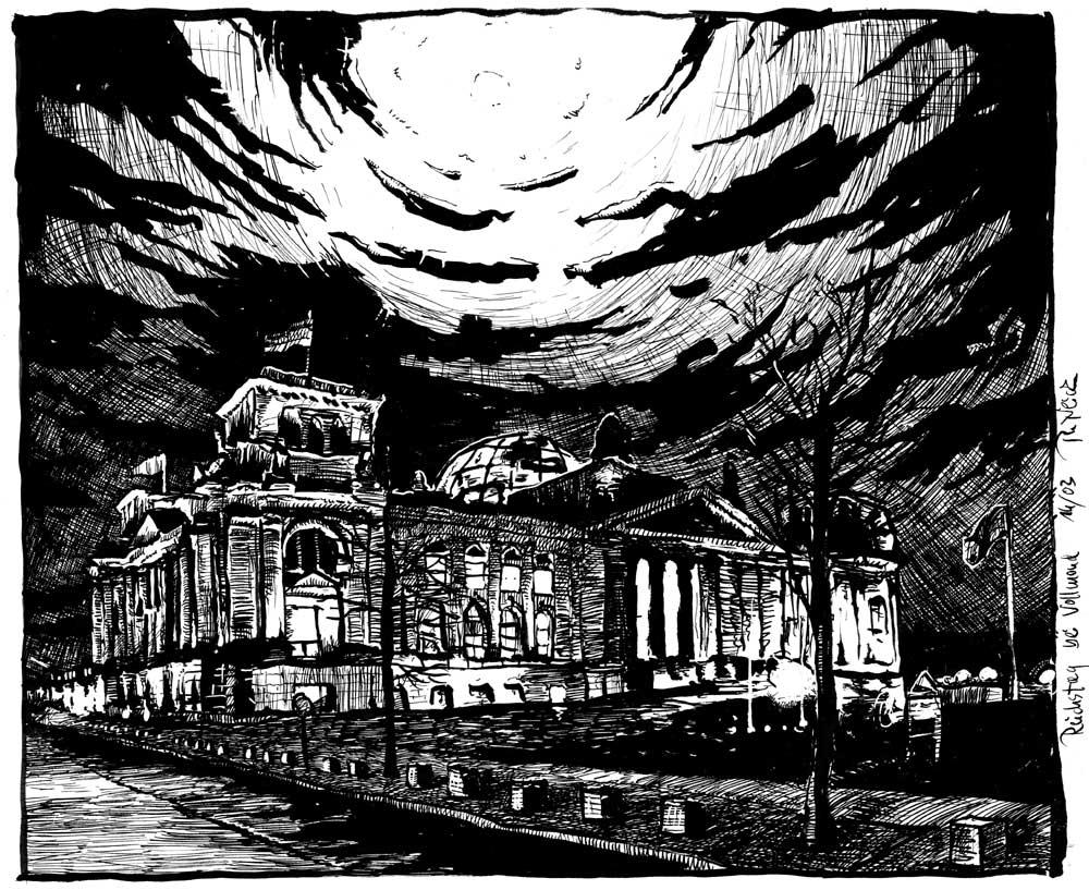 Der Reichstag im Mondlicht by RoodyN