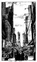 Times Square in November