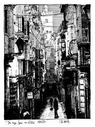 The narrow streets of Cadiz by RoodyN