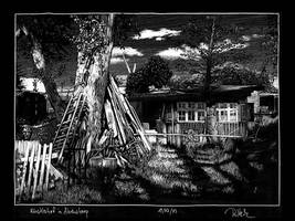 Artist backyard in Ahrenshoop