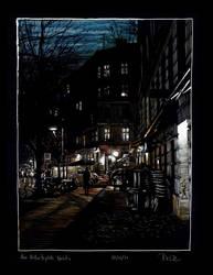 Am Kollwitzplatz Nachts