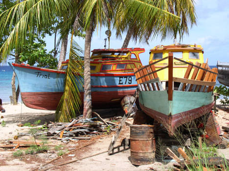Painted Fishing Boats 2