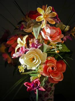 Sunlight On Silk Flowers