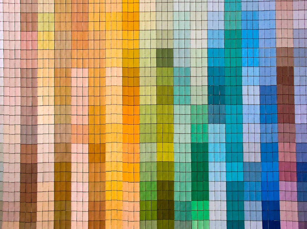 Paint Swatch Wall Ideas
