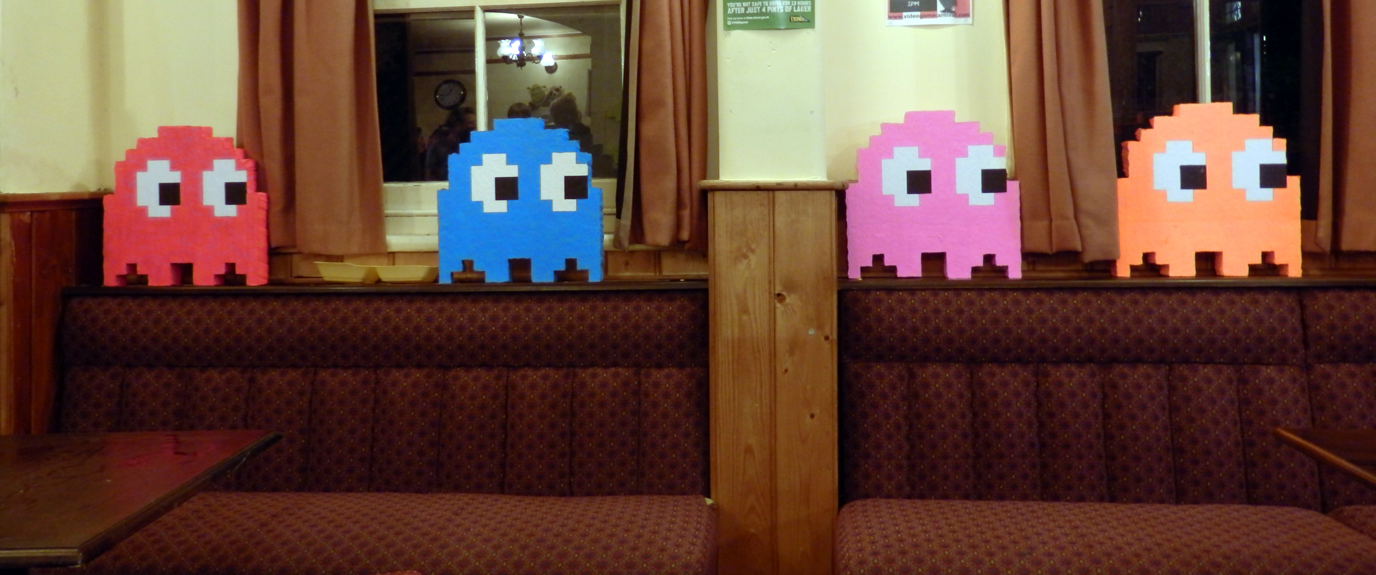 Pac Man Cast at the Pub by ggeudraco
