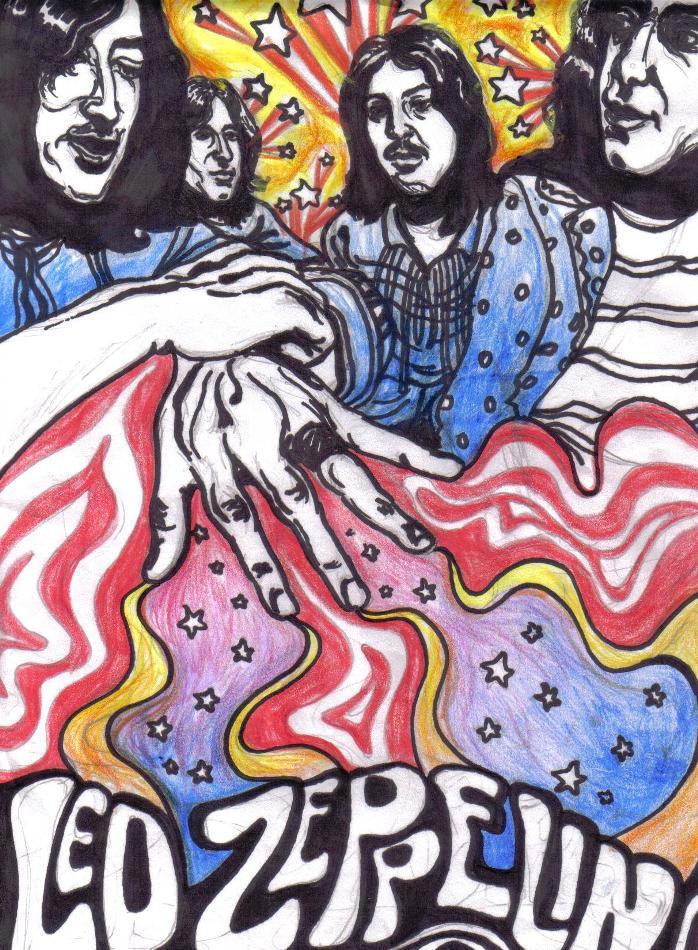 Led Zeppelin- Gods of Rock by livneeson