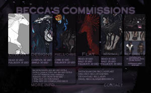 Becca's Commissions | OPEN by Beccaespi