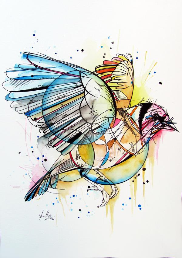European Goldfinch by fiona-clarkeART