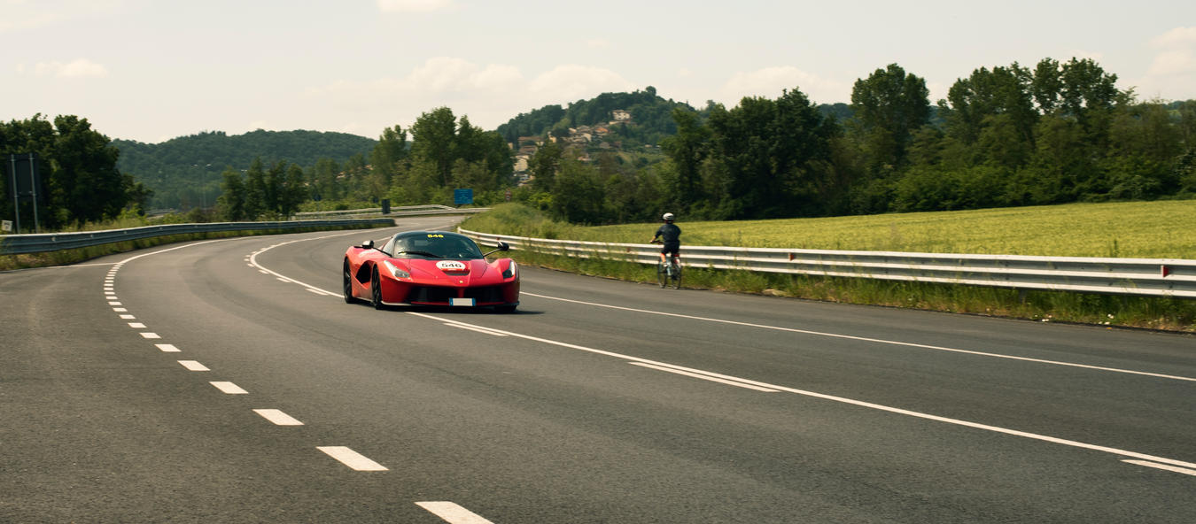 LaFerrari and a bicycle by fxx85