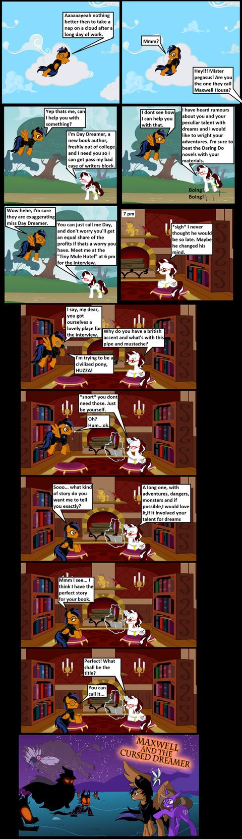 The cursed dreamer page 1 by darkoak213