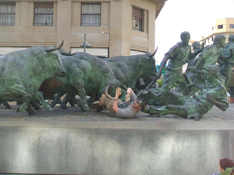 Me being run over by the bulls! (the sequel) by darkoak213