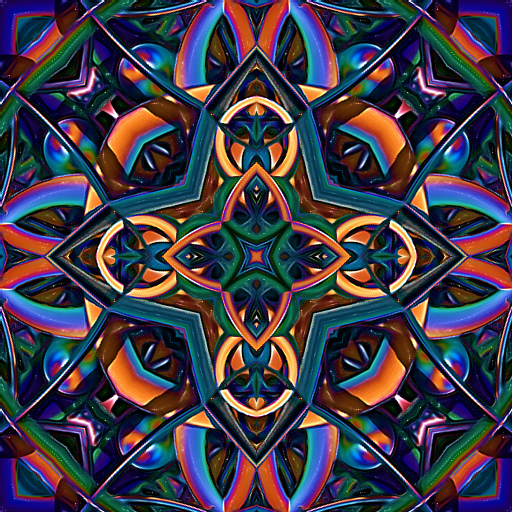 Kaleidoscope Design Coloring Pages