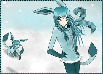 Glaceon Girl by worldofyarn