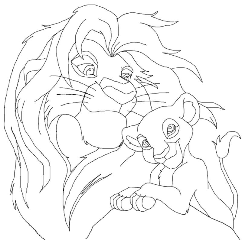 Line Art Lion : The lion king line art by bunyip boy on deviantart