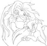 the lion king line art