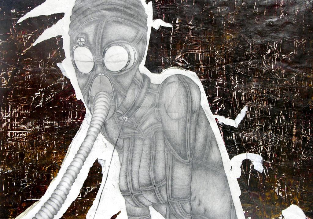 Gas Mask by palebluecorpse
